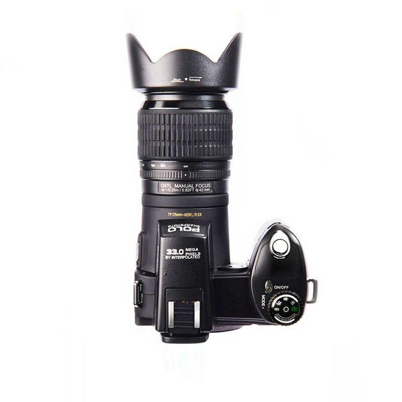 PROTAX D7100 33MP professionnel DSLR forme appareils photo numériques 24X téléobjectif 8X zoom numérique grand Angle objectif lumière LED