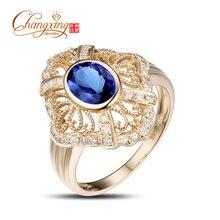 Real 14k Gold 1.52ct Blue Tanzanite Diamond Engagement Wedding Ring