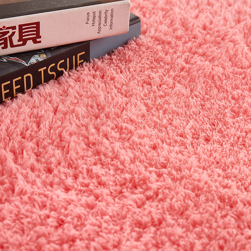 Zeegle Plush Shaggy Round Carpet For Living Room Absorbent Floor Mat Anti-slip Bathroom Rug Kids Room Computer Chair Rug