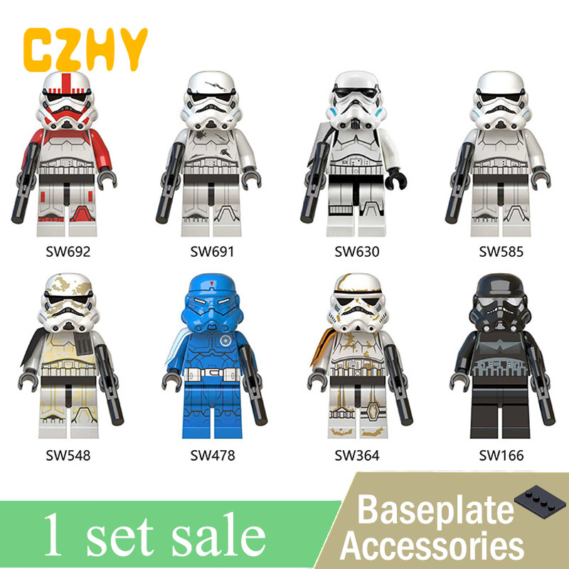 Star Wars MINIfigureD Clone Trooper Shock Shadow Trooper Sandtrooper Military Stormtroopers Legoe Blocks Toys for Children кабель зарядки универсальный airline 4 в 1 miniusb microusb для iphone 4 5 6 ach 4 13