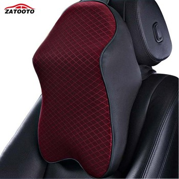 Memory Foam Car Headrest Pillow Massage Seat Back Waist Support Neck Rest Pillow Car Cushion Interior Accessories