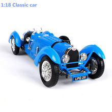 Classic retro Bugatti type,Advanced collection model 1:18 alloy car toy,diecast metal model vehicle,free shipping(China)