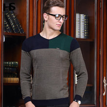 HS Hot Sale 2016 New Autumn Knitted Sweater Men V-Neck Long Sleeve Pull Homme Cashmere Wool Pullover Men Sweaters Brand OEM 6633