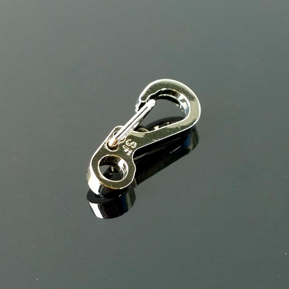 10XEDC Mini Stainless Steel Key Buckle Snap Spring Clip Hook Carabiner Backpackf
