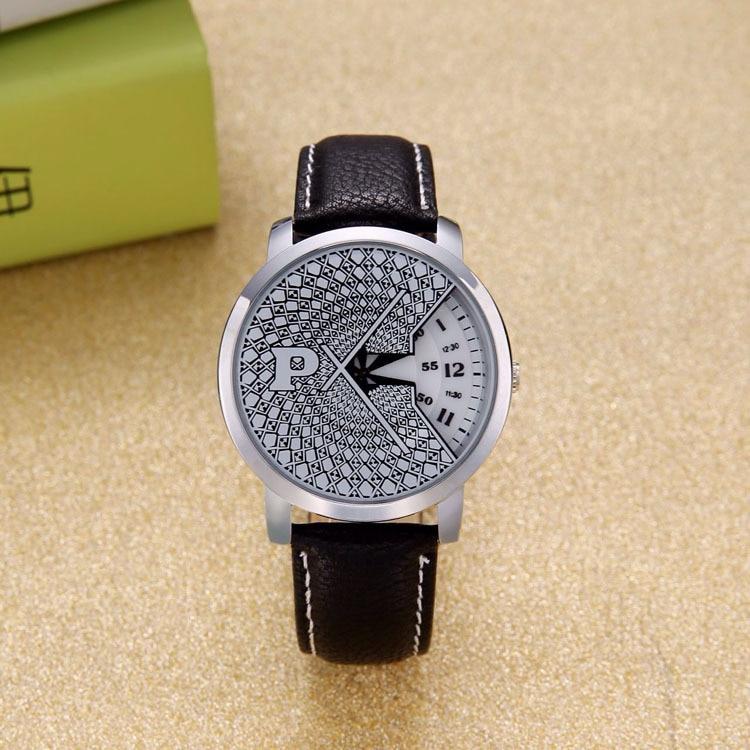 Relogios Masculinos 2016 Fashion Quartz Watch Rotating Pointer Unisex Leather Strap Wristwatch Women Sports Casual Wristwatches