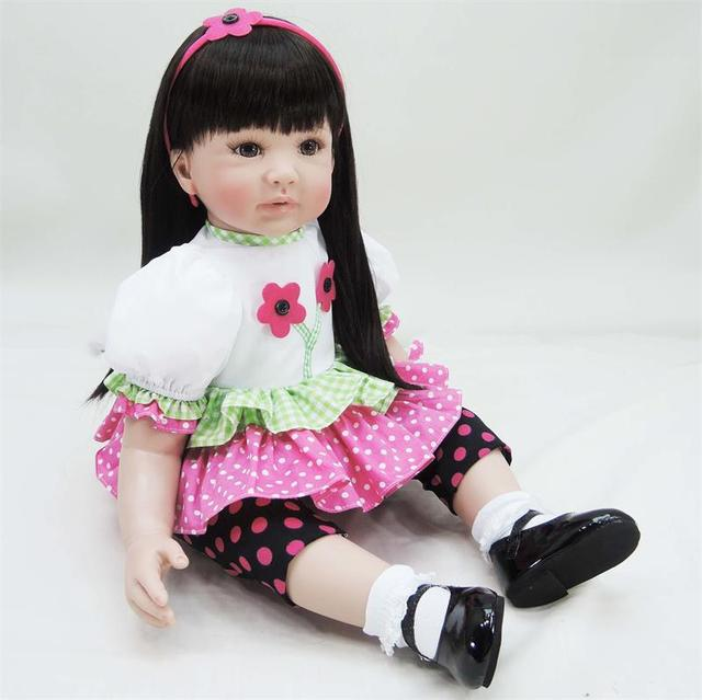 60cm Silicone reborn baby doll toy lifelike 24