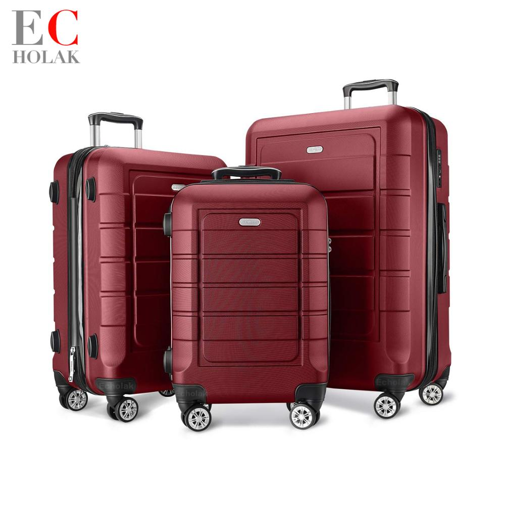 3 Piece Set Luggage with TSA Lock Spinner 20in24in28in Expandable Suitcase PC ABS suitcase with wheel