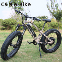 2018 Fashional New Design 48v 1000W Snow Fat tire electric Mountain bike bicycle ebike