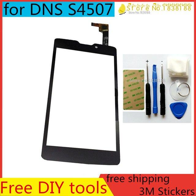 """Бесплатный DIY Инструмент + 3 М Наклейки + 4.5 """"оригинал для DNS S4507 4507 С Сенсорным Экраном Digitizer стекло Замена панели объектив датчик"""