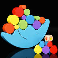 Freies verschiffen Kinder Klassische Holz Modell Blöcke Mond Balance spiele Pädagogisches MOND Balance Spielzeug Tabelle Spiel spielzeug für kinder