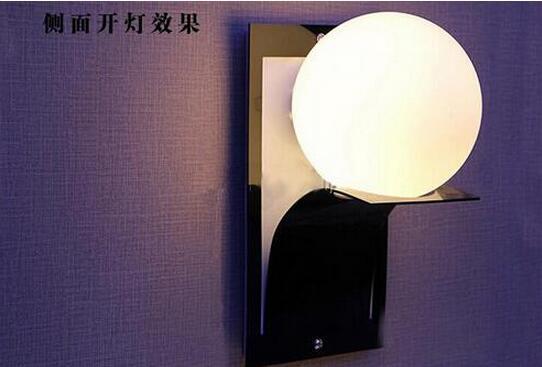 Moderno globo sfera di metallo bagno applique da parete a led lamp
