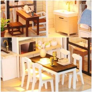 Image 2 - Cutebee أثاث بيت الدمية دمية مصغرة لتقوم بها بنفسك صندوق غرفة منزل مصغر مسرح لعب للأطفال Casa لتقوم بها بنفسك دمية P