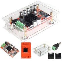 TDA7492P 50 W + 50 W Bluetooth CSR4.0 Amplificateur Conseil Audio Récepteur Numérique + Acrylique Shell + Outils