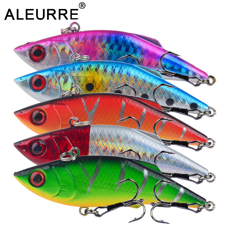 7.5cm/10.5g Fishing Lure Vibration Swing Sink Hard Bait Long Shot Plastic Wobbler Crankbait Rattlin VIB Artificial Lures