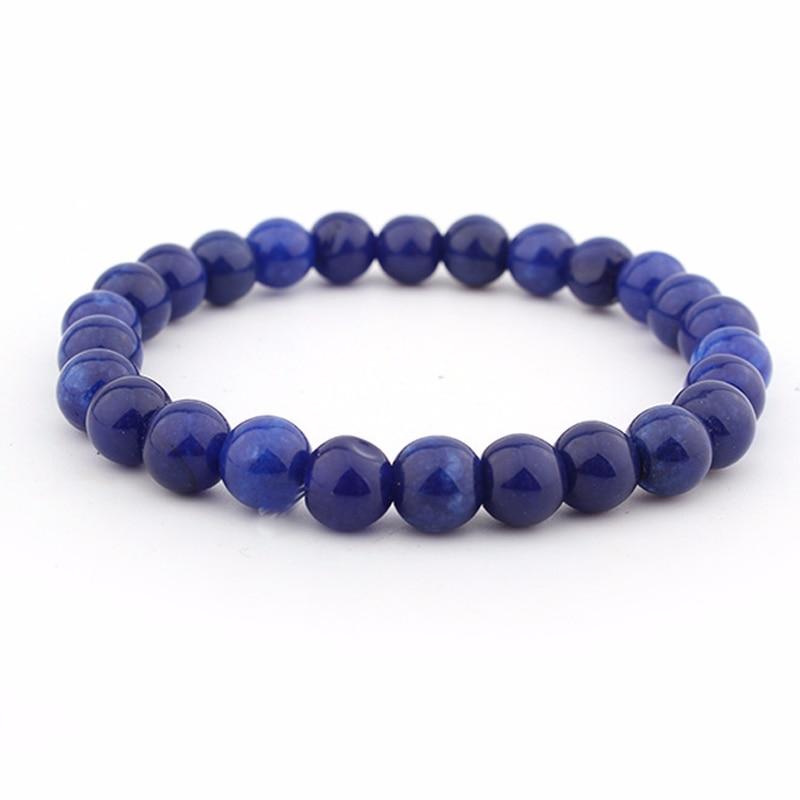 GVUSMIL High Quality Lapis Lazuli Bracelet Natural Stone Bead Mens Bracelet Throat Chakra Spiritual Gift for Him
