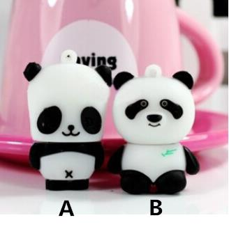 cartoon cute black & white panda USB 2.0 usb flash drive pen drive memory stick U Disk 2GB-32GB real capacity S395