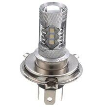 1pc 12V AC/DC H4 Motorcycle White 16LED HeadLight 360° High Low Beam Head Lamp Bulb 80W 800LM цена