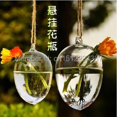 Doprava zdarma průhledná skleněná váza s květinami zavěšená na moderní hydroponický moderní domov