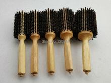 Wooden Hair Brush With Boar Bristle Mix Nylon Professional Round Hair Brush GIC-HB509 (5pcs/set) Free Shipping