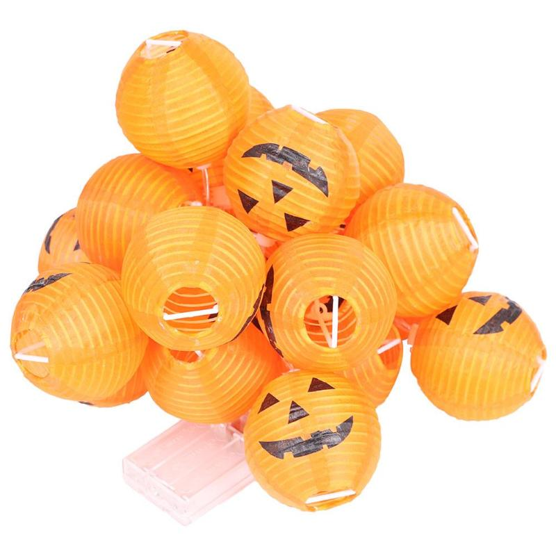 LED Pumpkin Lantern Light String Warm White Outdoors Party Halloween Festival Decorative Lighting Lamps Outdoor Lighting