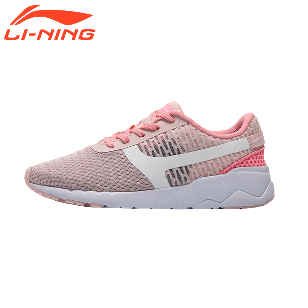 Li-Ning Women Running Shoes Mesh Breathable Summer Cushioning Heather Classic Sports Lightweight Sneakers Brand Original AGCM054 купить