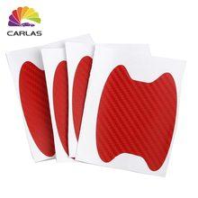Todo envío gratis protección de manija de coche película Universal coche Invisible de fibra de carbono de la manija de la puerta pegatinas rayones Adhesivo resistente
