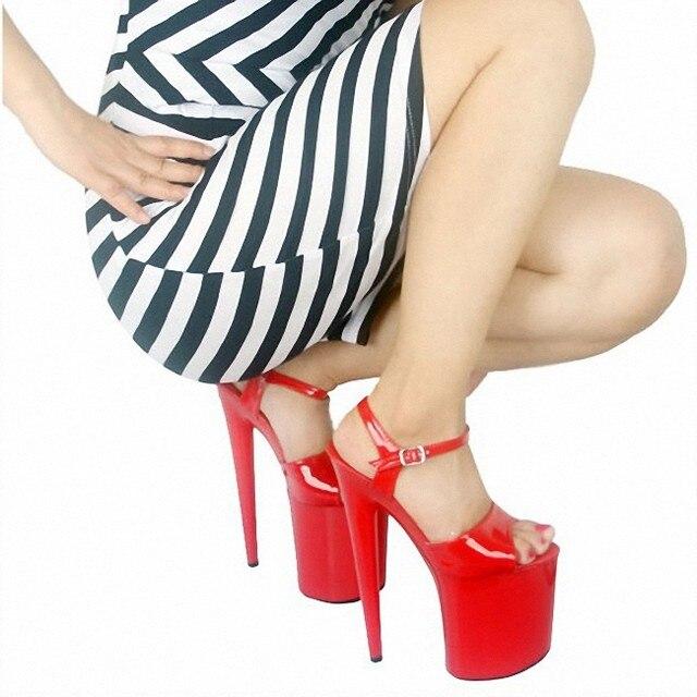 Mature legs in red heels