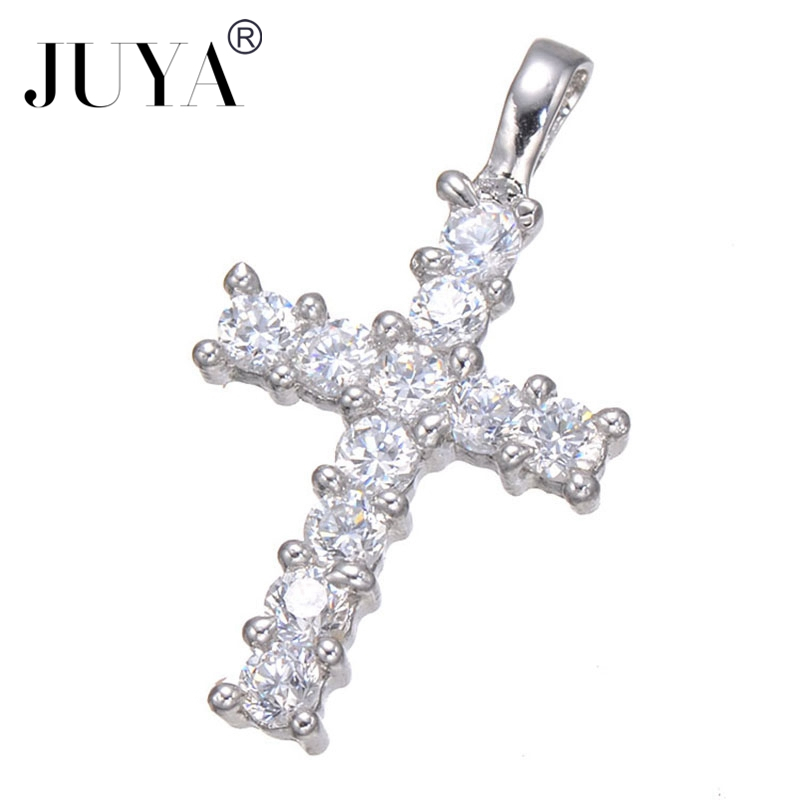 2020 Hot Fashion Druzy Shiny Gold Cross Rhinestone Pendant Charms For Woman Wedding Hand Made DIY Necklace Components Findings