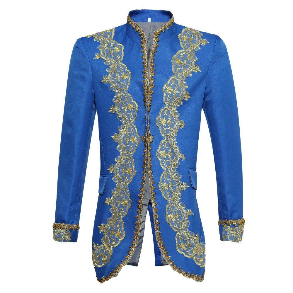 Top Sale Mens Rococo luxury Casual Suit Slim Fit Stylish Blazer Coats Jackets & Vest & Trousers