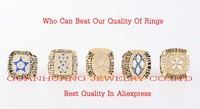 Who Can Beat Our Rings High Quality 5pcs Packs 1971 1977 1992 1993 1995 Dallas Cowboys