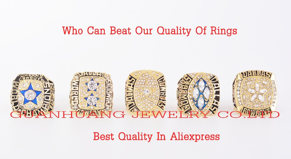 Who Can Beat Our Rings, High Quality 5pcs/Packs 1971/1977/1992/1993/1995 Dallas Cowboys custom Championship Rings