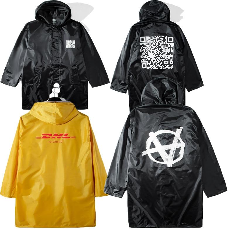 19SS Vetements DHL Jackets 1:1 Oversized Raincoat Outerwear Coats Waterproof Windbreaker Streetwear DHL Jacket Men Women