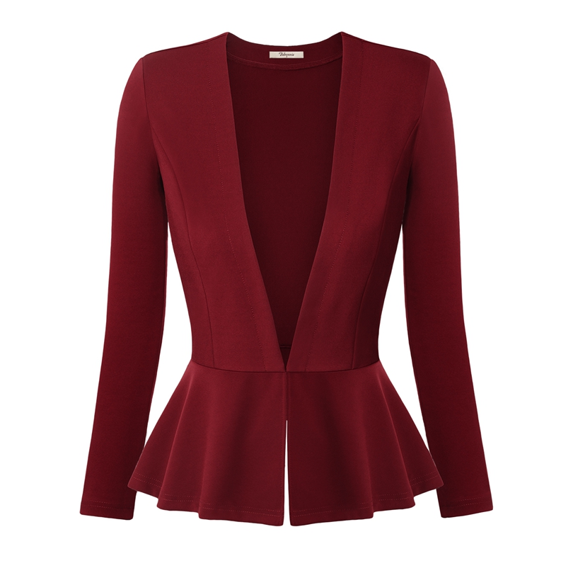 Women Blazers And Jackets Autumn Slim Ladies Blazers Office Work Wear Business Jacket Tunic Top ...