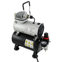 Colopaint Mini Portable Air Compressor TC-20T with Air Tank Body Painting Temporary Tattoo