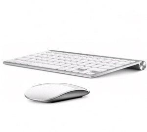 Ультра-тонкая беспроводная клавиатура с шоколадным ключом 2,4G на русском и английском языках для Apple Style Mac Pc Window XP/7/8/10 Smart TvBox
