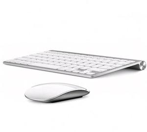 Russian English 2.4G Ultra-Thin Chocolate Key Wireless Keyboard Mouse Combos for Apple Style Mac Pc Window XP/7/8/10 Smart TvBox