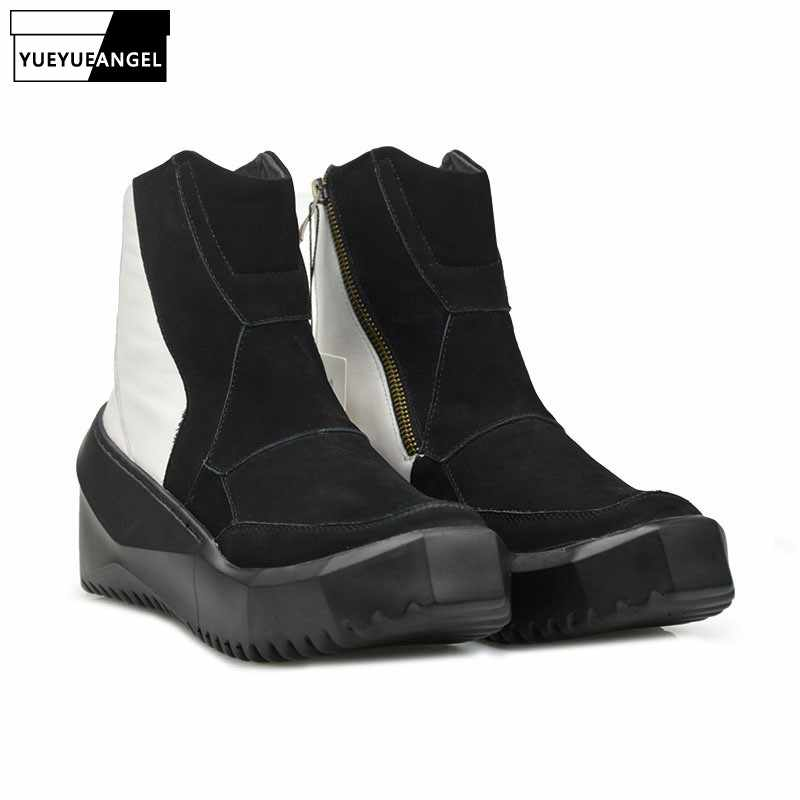 97b95e88 Estilo coreano de invierno nueva marca de moda de calidad superior de cuero  genuino botas de