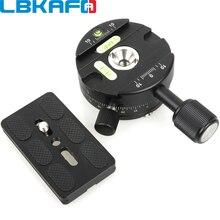 LBKAFA Cabezal panorámico de bola X64 de 360 grados, abrazadera panorámica de liberación rápida con placa QR para trípode de cámara para Nikon, Canon y Sony