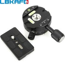 Lbkafa x64 360 graus panorâmica bola cabeça panorama braçadeira liberação rápida com placa qr para câmera tripé para nikon canon sony