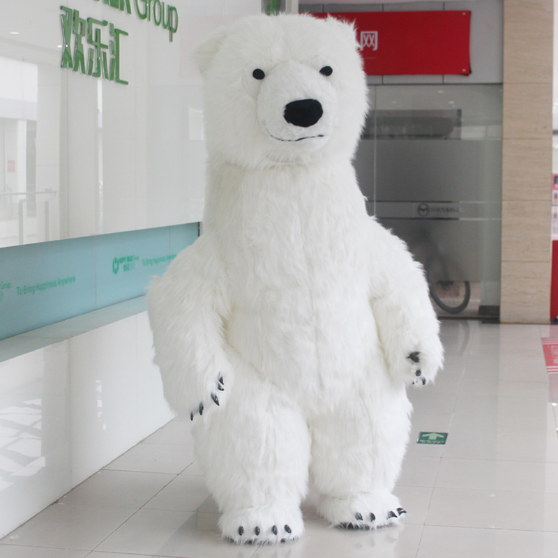 2019 Hot Polar Bear Inflatable Costume Halloween Costume For Advertising 2.6M Tall Customize For Adult Suitable For 1.6m To 1.8m