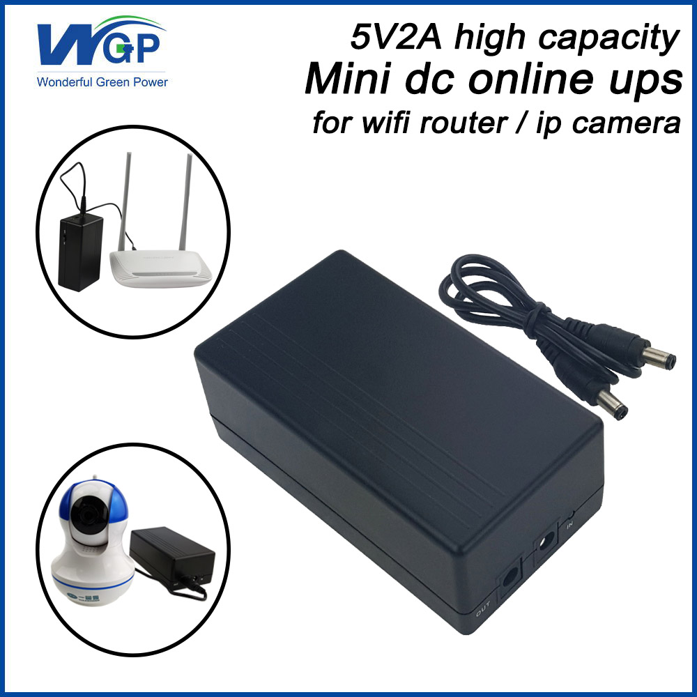 Large capacity 57.72wh 5v 2a potable ups dc back up power supply with 18650 li ion battery mini ups for ip camera and DVRLarge capacity 57.72wh 5v 2a potable ups dc back up power supply with 18650 li ion battery mini ups for ip camera and DVR