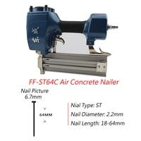 2017 New Arrival Air Concrete Nailer ST64C Nail Gun For 18 64mm Steel Nail 0.4 0.8 MPa Air Nail Gun For 2.2mm Diameter Nail