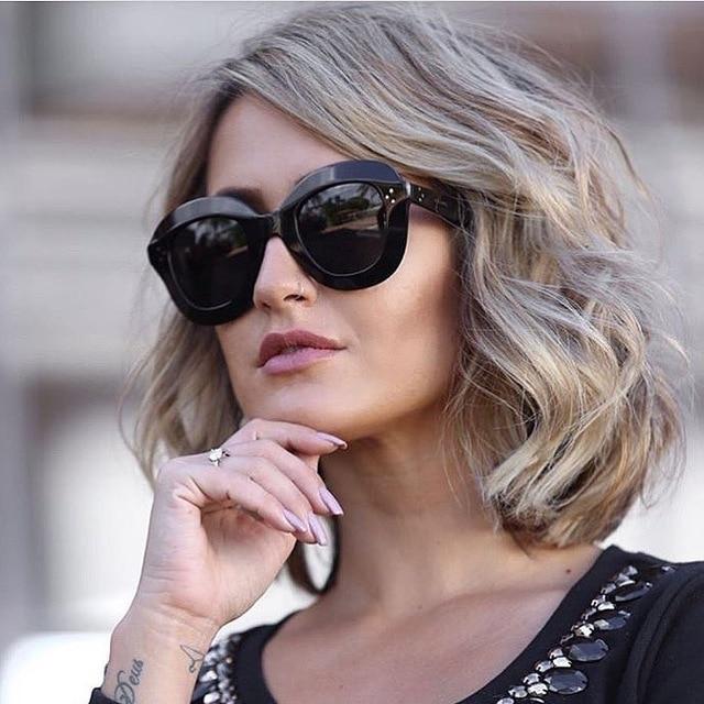 f6995da1c6cc7 2017 Brand Retro Cat Eye Sunglasses Women Sexy Luxury Brand Designer Sun  glasses Female Rivet Shades Big Frame Style Eyewear Ocu