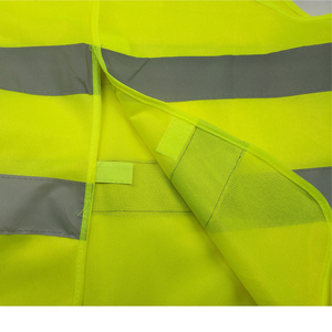 Image 2 - High Visibility Yellow Vest Reflective Safety Workwear for Night Running Cycling Man Night Warning Working Clothes Fluorescent