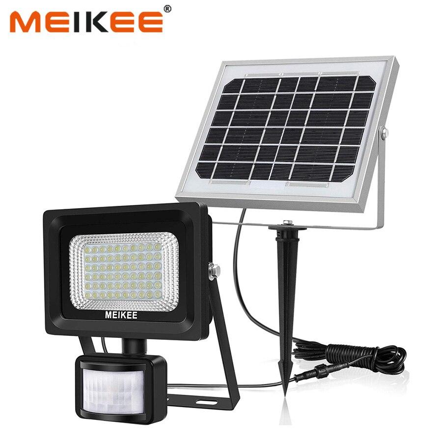 60 LED s lampes solaires capteur de mouvement lumière de sécurité extérieure solaire alimenté lumière d'inondation IP66 étanche 6000 K LED lampe solaire