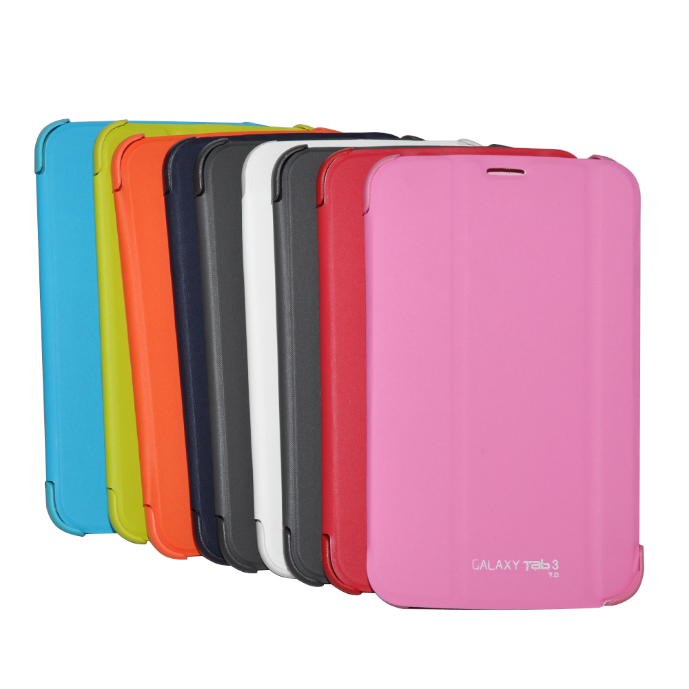 PU Leather Stand Case For Samsung galaxy Tab 3 7.0 T210 T211 Slim Shockproof Case With Screen Protector