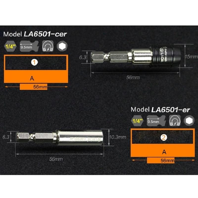 LAOA Alta calidad 5 tamaños Magnético 1/4 Socket Prolong Ro Manga - Herramientas manuales - foto 3