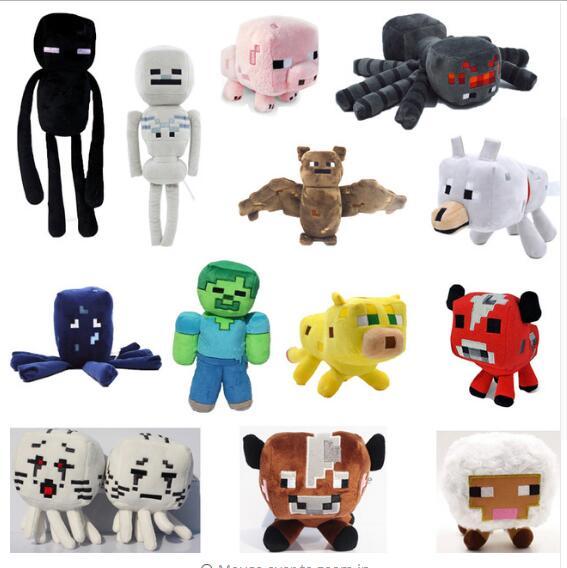 minecraft brinquedos de pelúcia 13 estilos macio stuffed animal