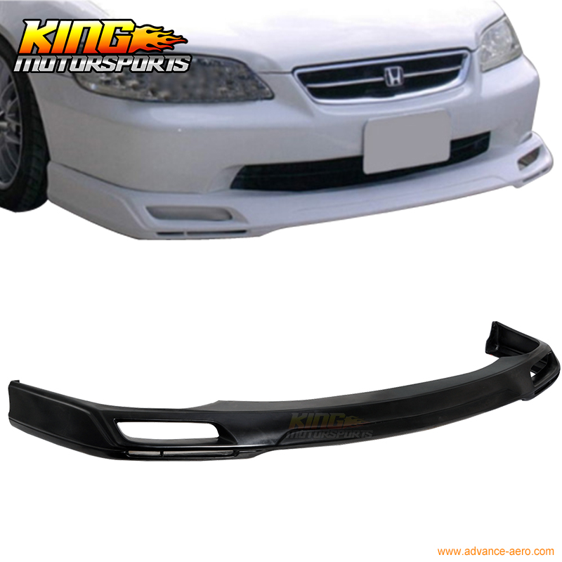 For 1998 1999 2000 2001 2002 Honda Accord Sedan 4Dr PU V-Style Front Bumper Lip Spoiler руководящий насос range rover land rover 4 0 4 6 1999 2002 p38 oem qvb000050