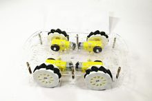 4wd Mecanum Wheel Smart Car Chassis With TT Motor For Arduino Acrylic Plate DIY Intelligent Robot Car Model RC Toy Remote(China)